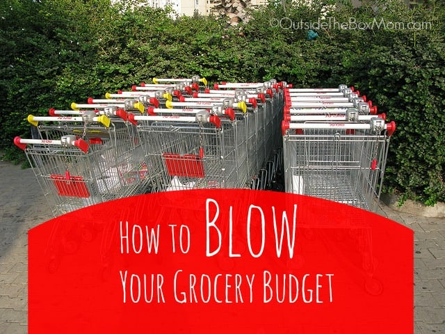 How to Blow Your Shopping Budget