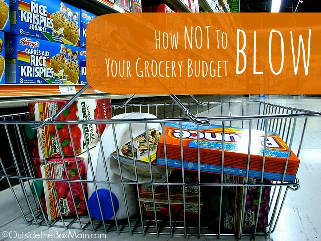 How NOT to Blow Your Grocery Shopping Budget