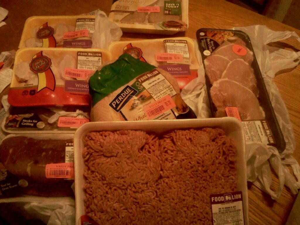 $60 grocery budget, week ending September 28