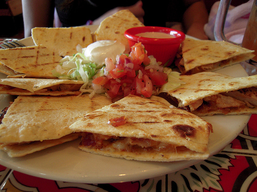 Easy Mexican-style Recipe: Cheesy Chicken Quesadillas