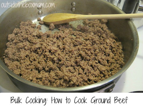 Bulk Cooking: How to Cook Ground Beef