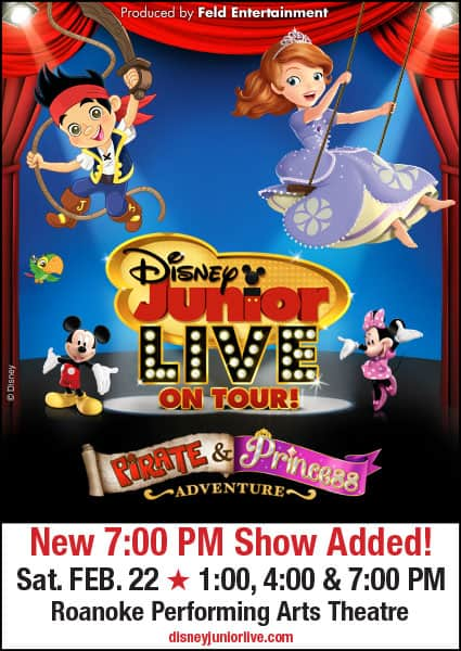 Disney Junior Live Pirate & Princess Adventure (Roanoke, VA) #Giveaway