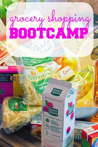 Grocery Shopping Bootcamp - get out of the store quicker go less often spend less time overall shopping limit distractions, impulse spending, and frustration.