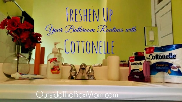 Freshen your bathroom routines with Cottonelle.