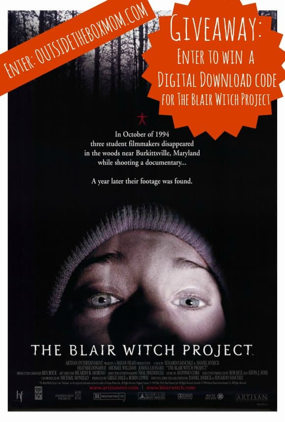 Enter to win a Digital Download code for The Blair Witch Project at OutsideTheBoxMom.com