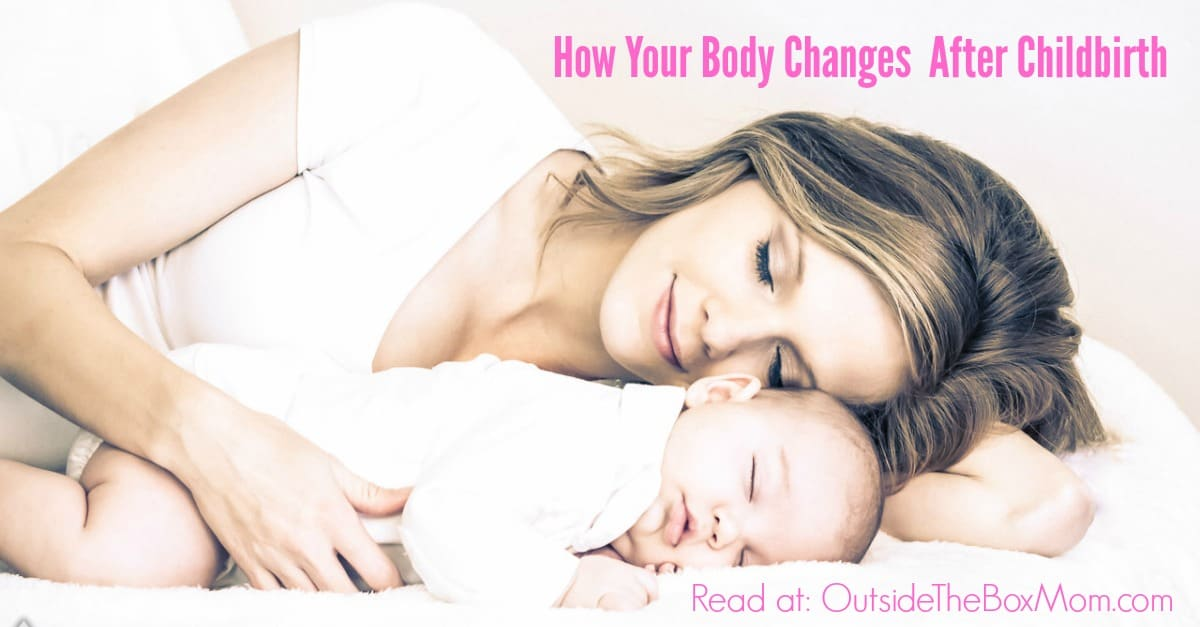 Moms of all ages can tell you that your body changes in many ways after childbirth. Learn how to navigate your way through those changes. | Outsidetheboxmom.com