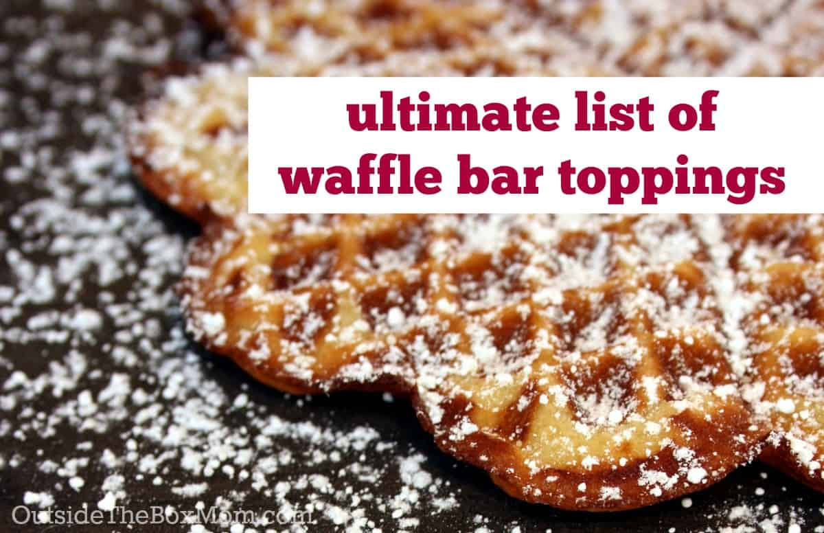 Does your family enjoy waffles whether they like em simply dressed