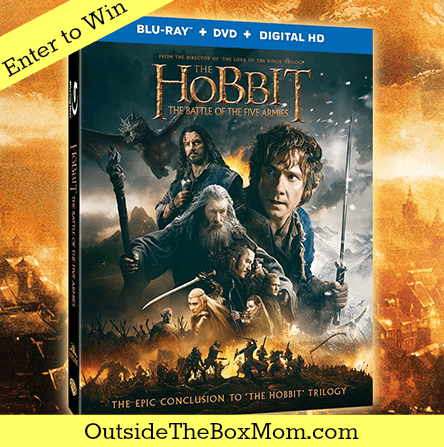 The Hobbit The Battle of The Five Armies Blu-Ray Giveaway