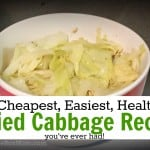 Thrifty Recipe: Fried Cabbage