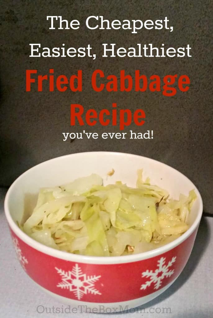 Looking for an easy, healthy, and inexpensive side dish? This Fried Cabbage Recipe is the cheapest, easiest, and healthiest way to get your family to eat more veggies. Three easy ingredients and comes together in minutes.