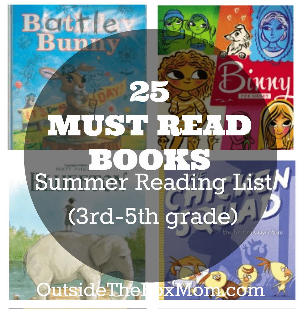 Summer Reading List (3rd-5th grade)