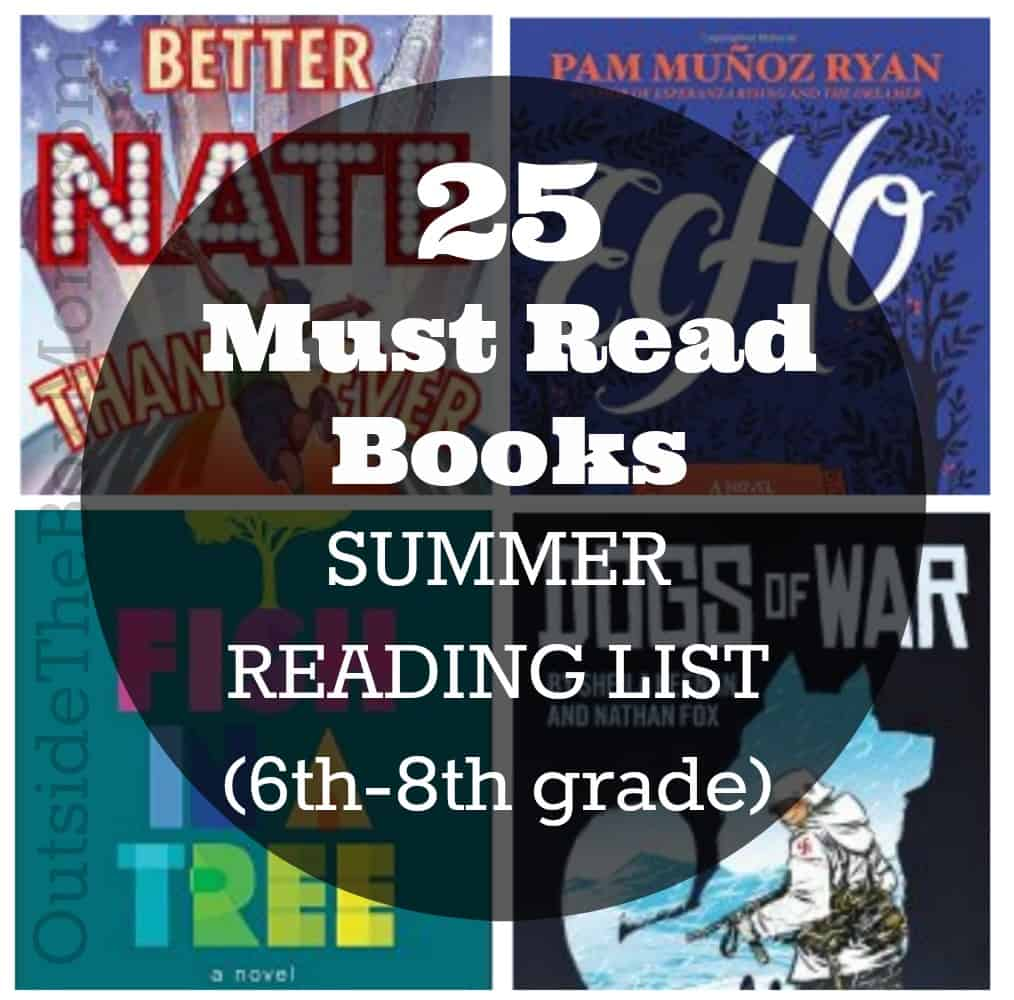 Summer Reading List (6th-8th grade)