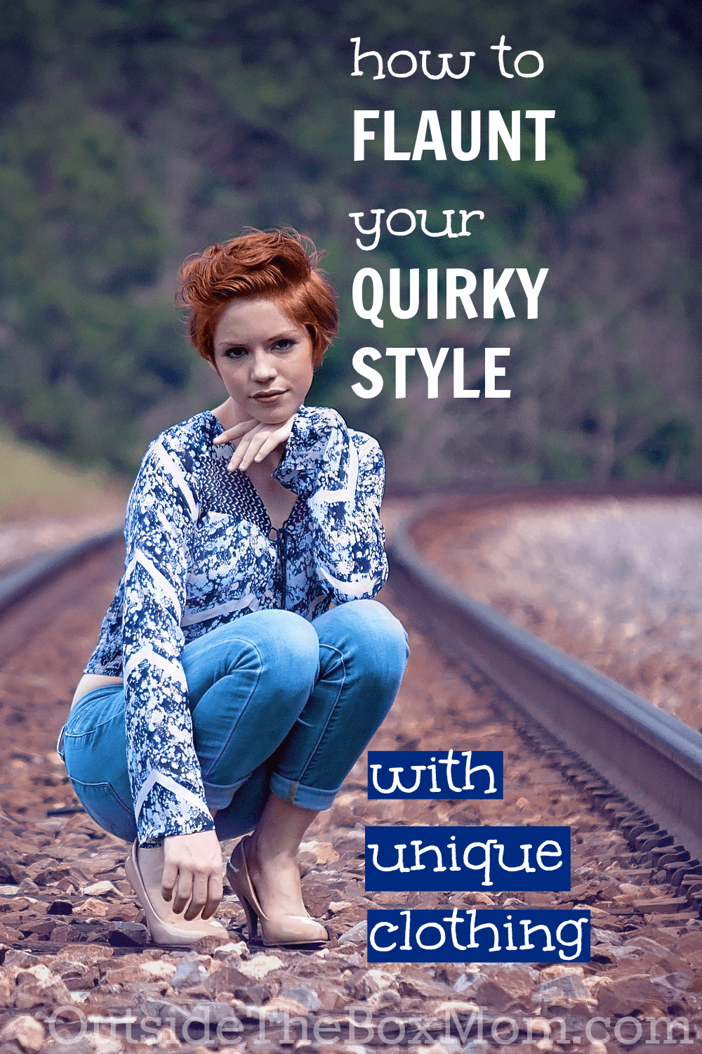 Do you want to be one of those women who is a design trendsetter with a unique style, instead of being a fashionable follower? Here are 8 quick and easy ways to dress with unique clothing and show off your quirky style. | OutsideTheBoxMom.com