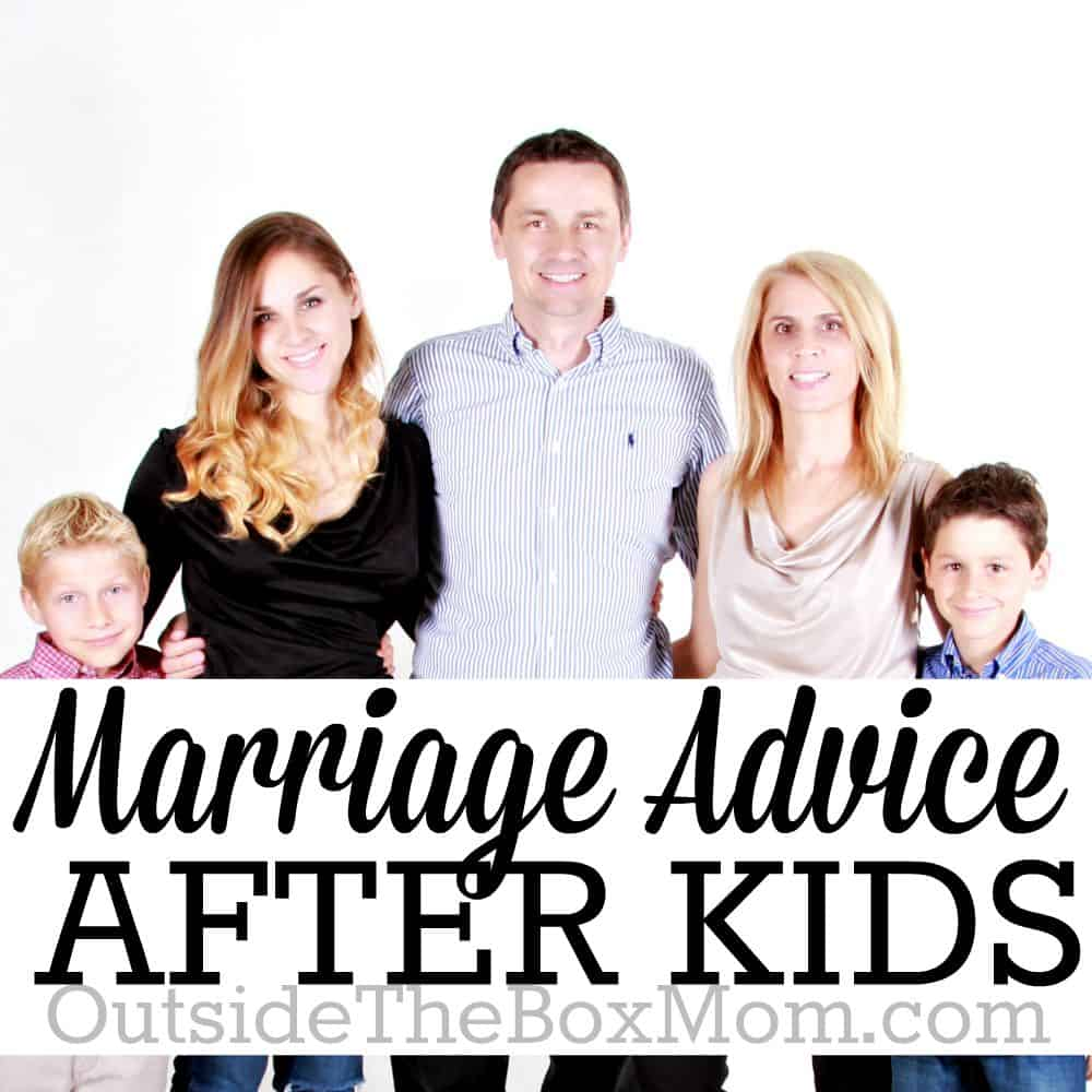 We all know that marriage is different once kids come into the picture. Here are seven pieces of advice from a couple whose been happily married for more than 10 years with children. | OutsideTheBoxMom.com