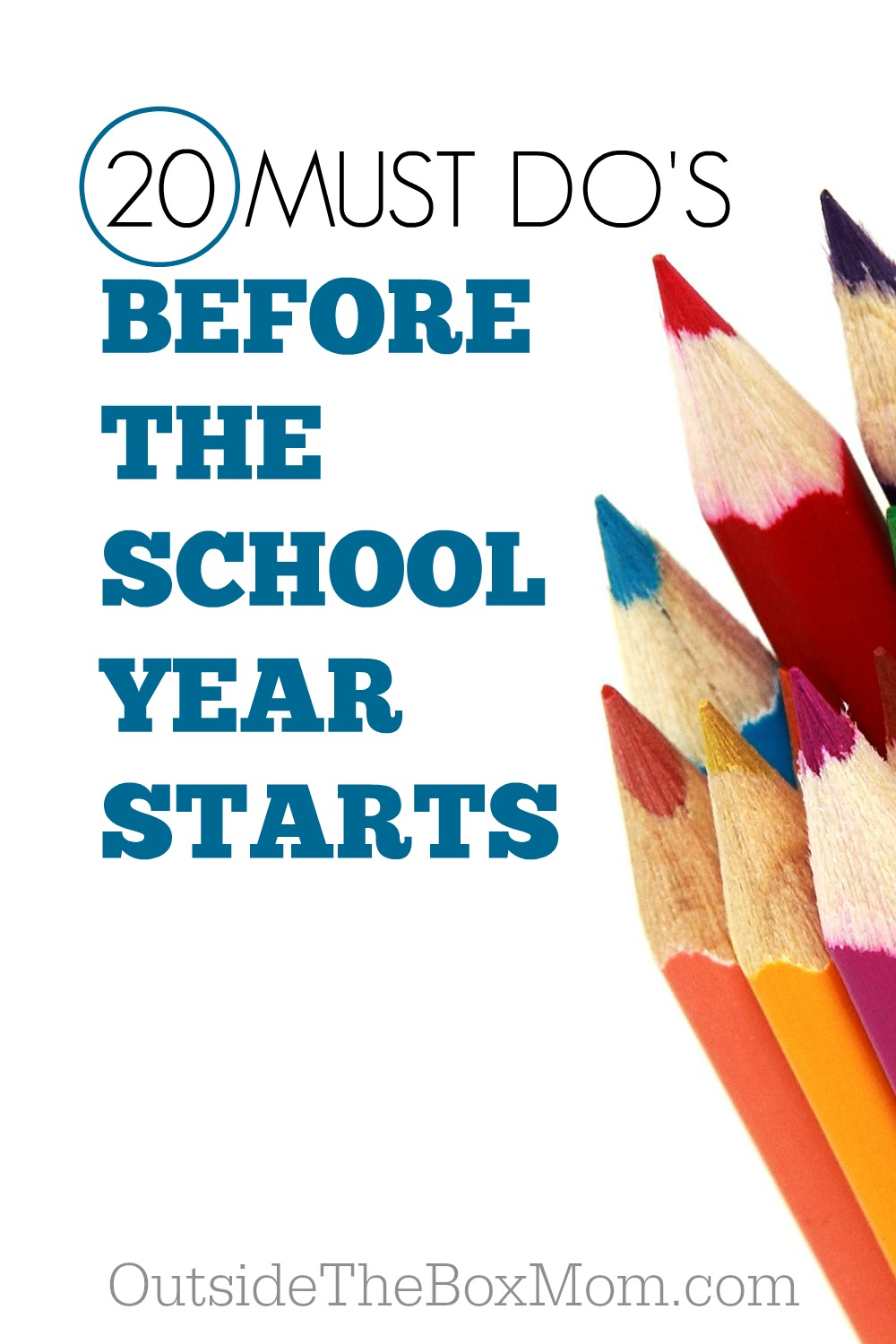 When the start of the school year is right around the corner, it can seem like the list never ends and there's not enough time. Here are some must do's to get the school year off to a smooth start.