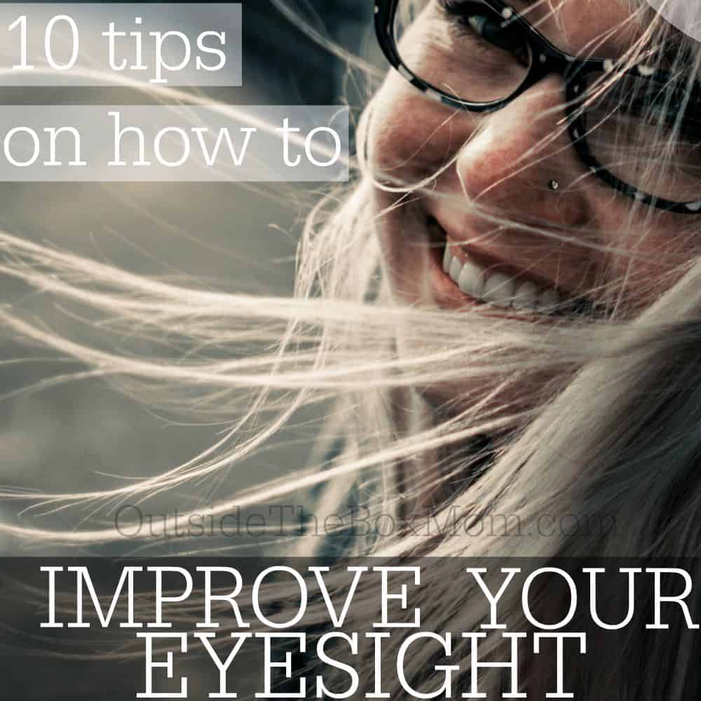 From wearing appropriate prescription glasses to eating good food that promote healthy eyesight, there are many ways by which an individual can improve his or her overall eye health. Here are some tips to achieve better eyesight. | OutsideTheBoxMom.com