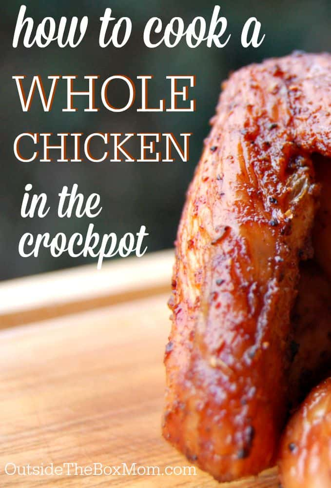 If you're looking for an easy and delicious dinner for your family, you have to try this recipe for whole chicken in crock pot. Only 5 minutes of prep time and it finishes by itself.