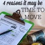4 Reasons it May Be Time to Move