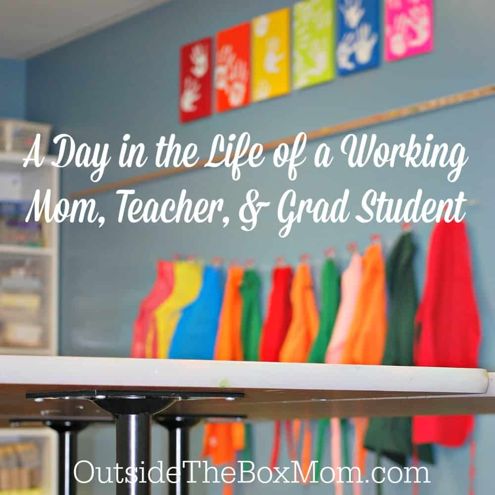 Learn about A Day in the Life of a Working Mom, Teacher, & Grad Student including what she does for work, her family life, and....her tips/tricks for getting everything done.