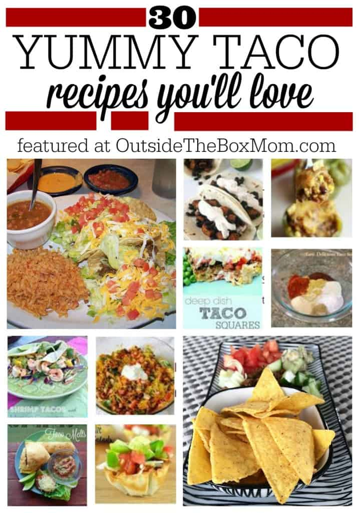 Are you looking for a collection of great taco recipes? Look no further! Here's a list of 30 of the best from some of my favorite bloggers. Happy Taco Day! I love tacos - soft, crunchy, chicken, beef, fish, shrimp, you name it. I am excited to share some great recipes I've found with you. These taco recipes include traditional, creative, vegetarian, and meat tacos of all varieties.