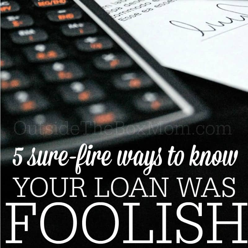 Getting a loan is not to be taken lightly. You might be surprised to hear this. This guide will help you to consider five important thing before taking out a loan.