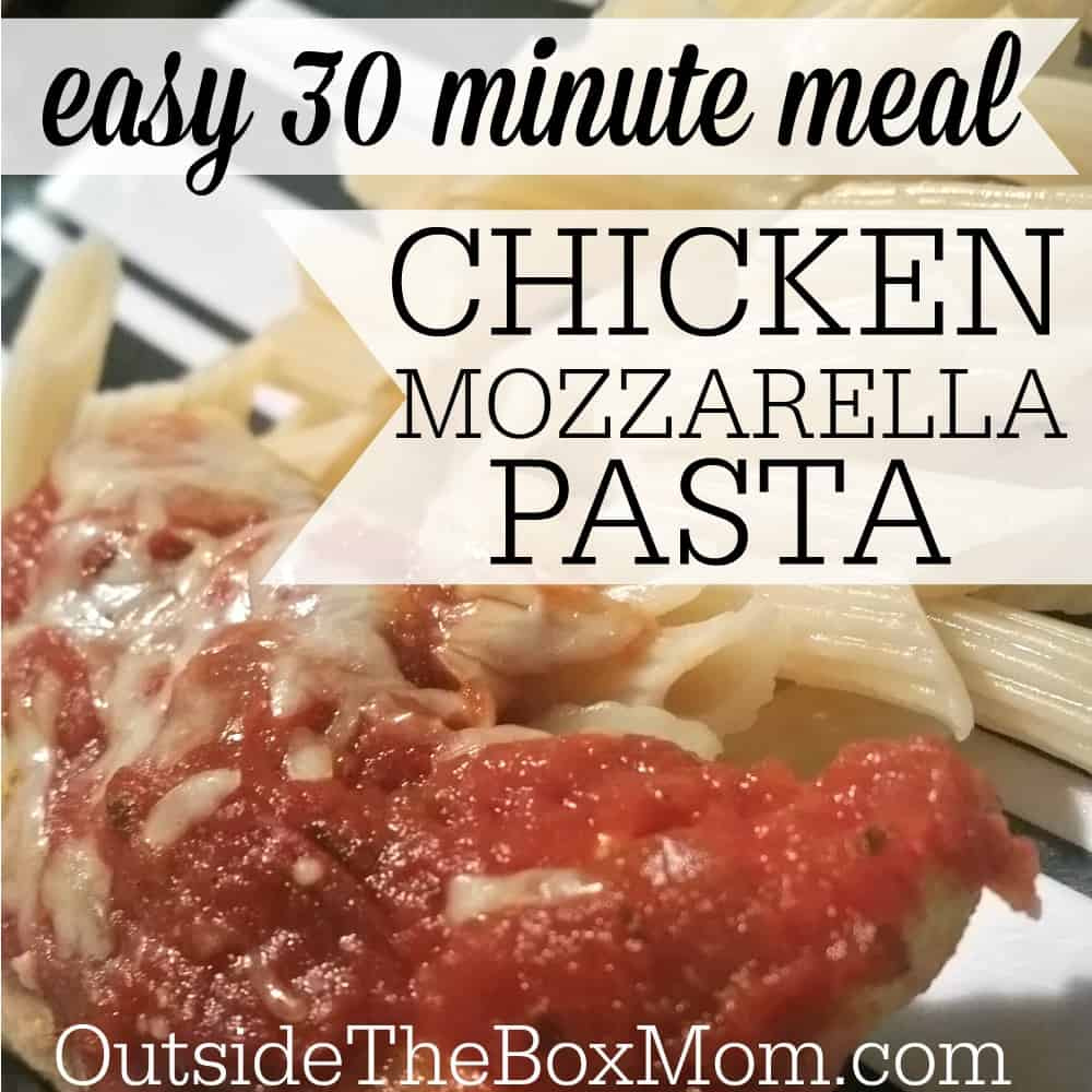 This six ingredient Chicken Mozzarella Pasta comes together in around ...