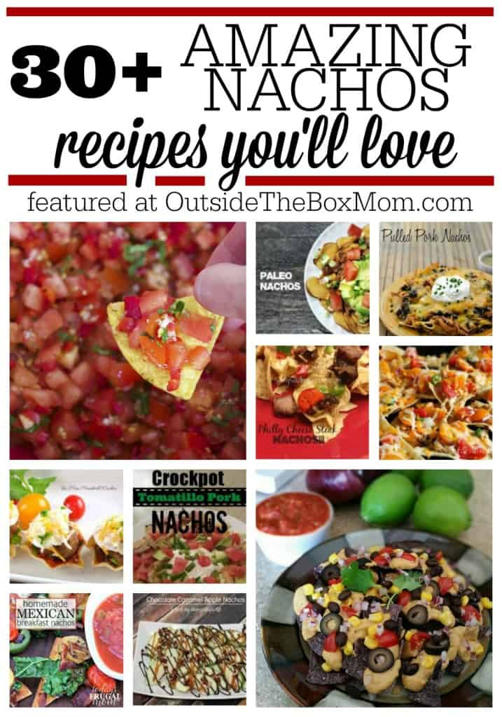 Whether you're celebrating National Nachos Day, have a craving for this tasty treat, or are looking for a unique nachos recipe, look no further! Here's a list of over 30 of the best from some of my favorite bloggers. I've included meat, meatless, appetizer, snack, health, and full on meal.
