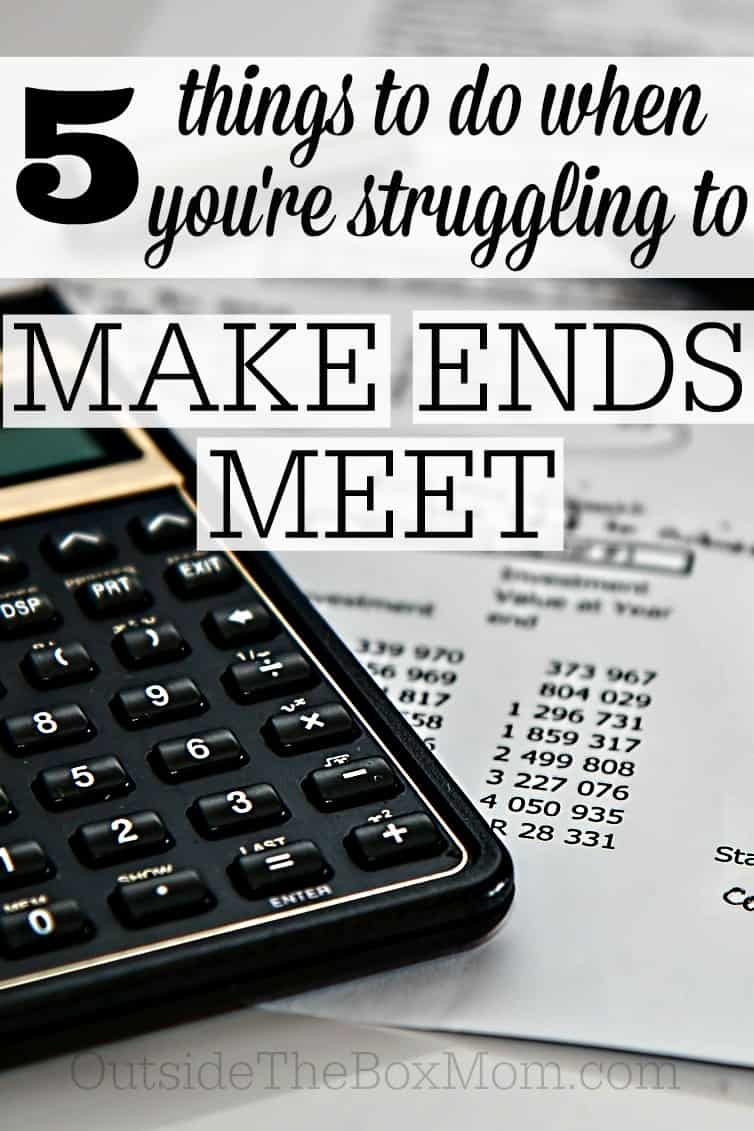 The path to financial freedom begins with a budget. These tips will help you if and when you're struggling to make ends meet.