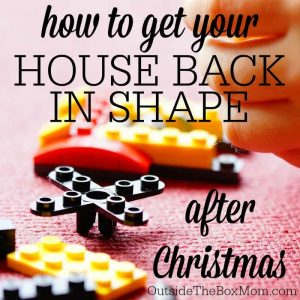 Did Christmas leave your house with more stuff, more food, and seasonal decor than you know what to do with? Having a plan to restore your home to normal will help you feel more in control.