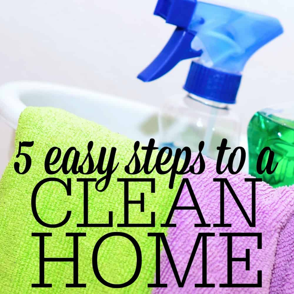 Cleaning your entire home can seem like an overwhelming task. With planning and team work, you (and your family) can get it done in no time! It can be broken down into these five easy steps.