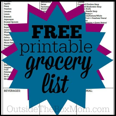 Have you been looking for a grocery list template so you don't have to keep making a grocery shopping list every week? Download this Free Printable Grocery Shopping List today!
