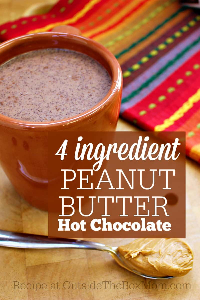 This easy, four ingredient peanut butter hot chocolate can be whipped up in minutes and will give you loads of energy.