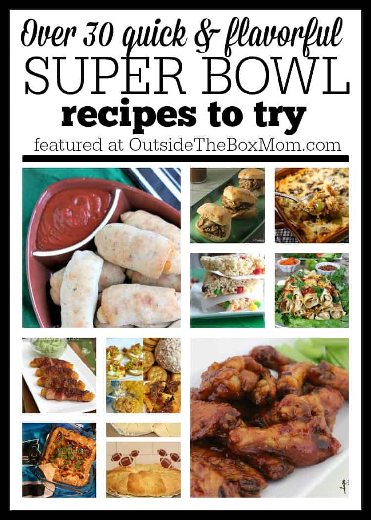 Are you looking for easy Super Bowl recipes while you spend time with your family on game day? Look no further. I've rounded up a list of more than 30 Super Bowl recipes for everyone.