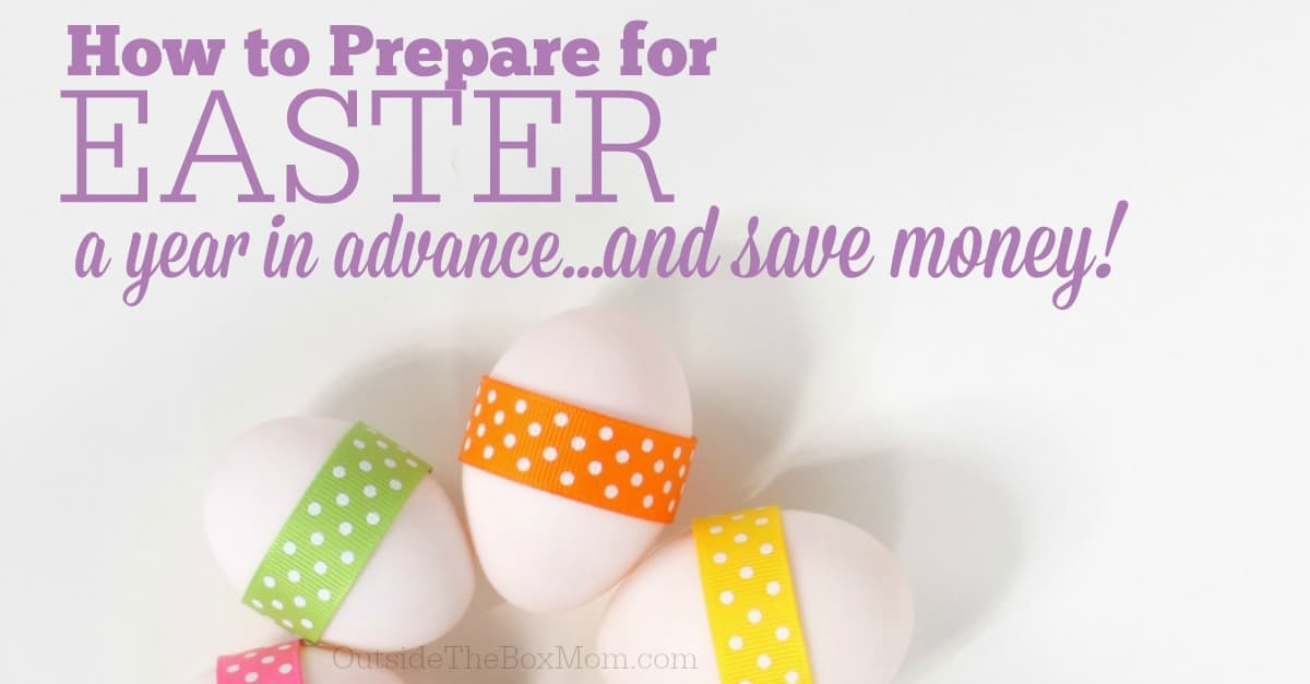 Now that Easter is over, did you know that there are a few easy ways you can get ahead for next year. You will save time, money, and another shopping trip with these easy tips on how to prepare for next Easter.