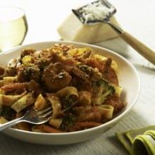 Asiago Shrimp Pasta Primavera