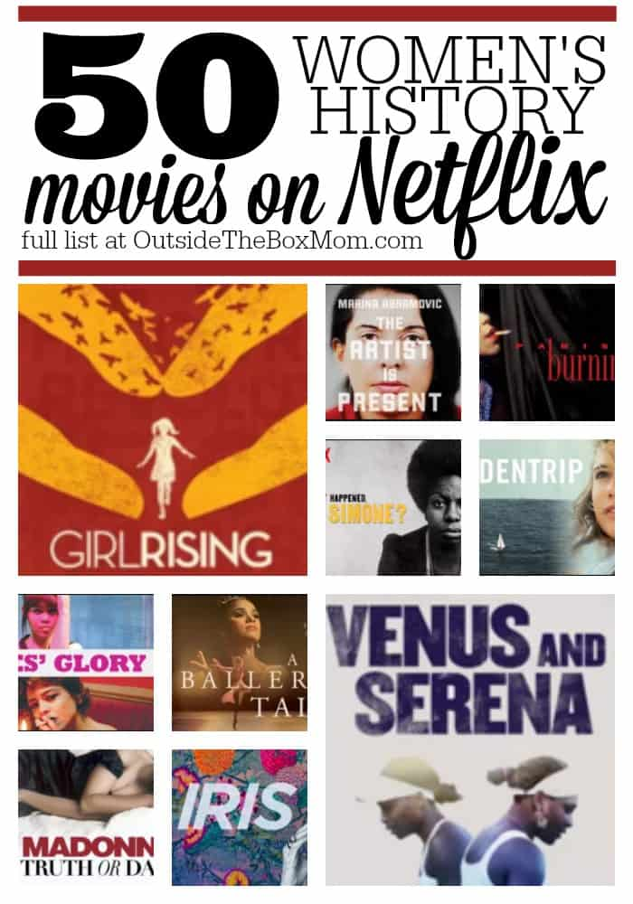 During Women's History Month, there are some great titles you can stream on Netflix. These films are also a great learning resource any time of year.