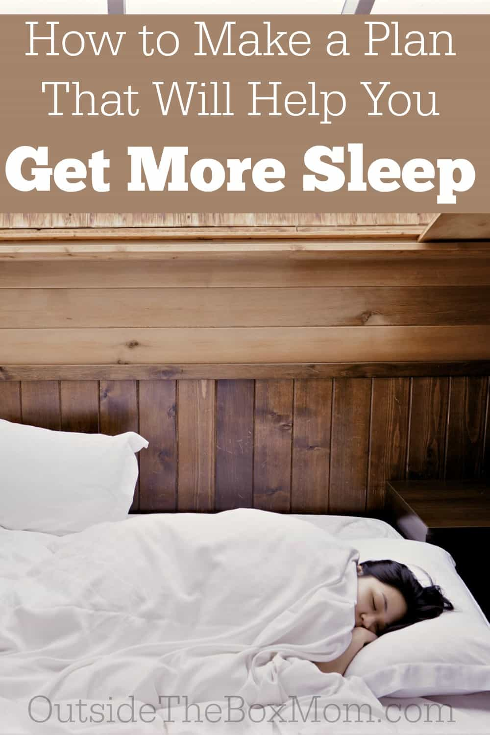 Do you wish you could get more sleep? Does it seem like the to-do list never ends? Don't miss these five fantastic (and super easy) ways to make a plan that will help you get more sleep...tonight!