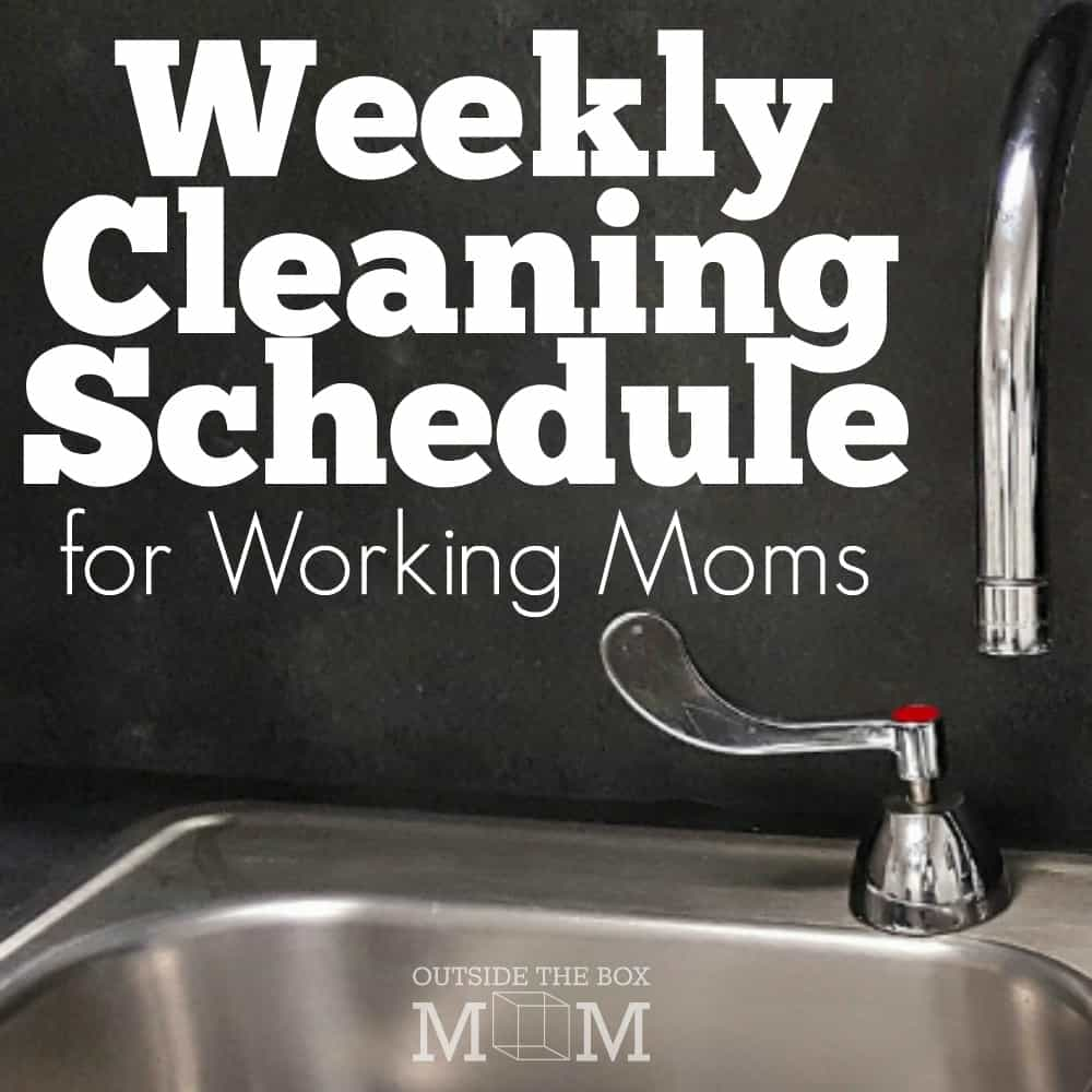 I struggle with creating and following a weekly cleaning schedule and being a working mom. This list is going to save me so much time and ensure my house is in presentable condition.