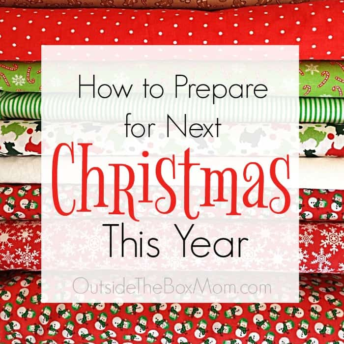 There are some easy ways you can get ahead for next year. You will save time, money, and another shopping trip with these easy tips on how to prepare for next Christmas.