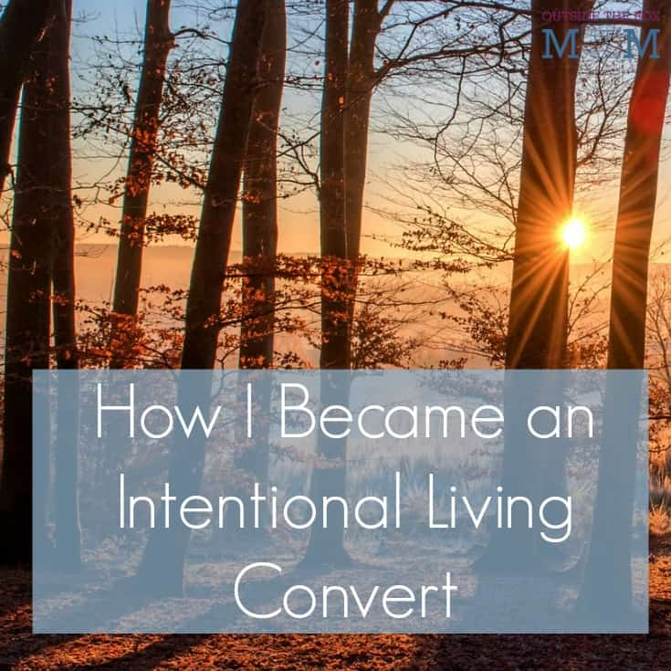 "Intentional living is any lifestyle based on an individual or group's conscious attempts to live according to their values and beliefs. Do I consider myself one of those types of people? The irony is that I don't because I haven't really made a lot of ""intentional"" decisions."
