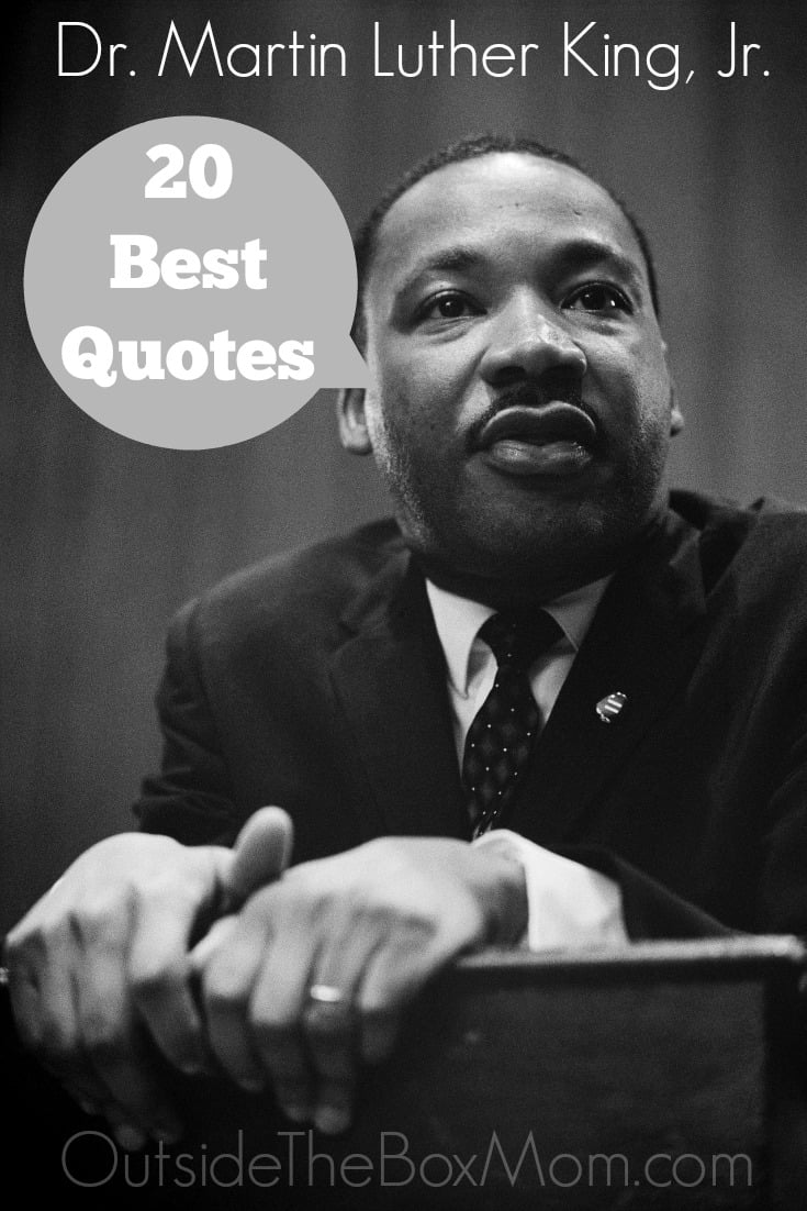 During January, we celebrate MLK, Jr.'s birthday and February is Black History Month. These Dr. Martin Luther King, Jr. Quotes are inspiring, empowering, and motivational.