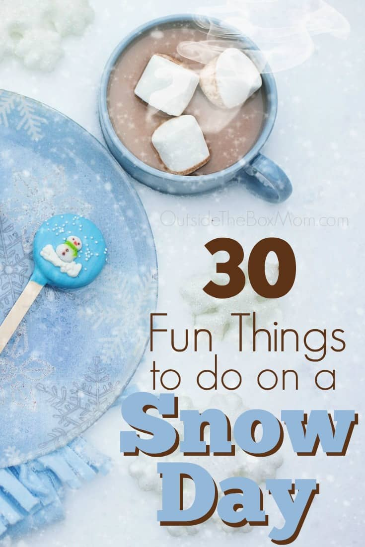 This snow storm came out of nowhere! But we figure we should make the best of it. If school and work are cancelled, here are 30 fun things to do on snow day.