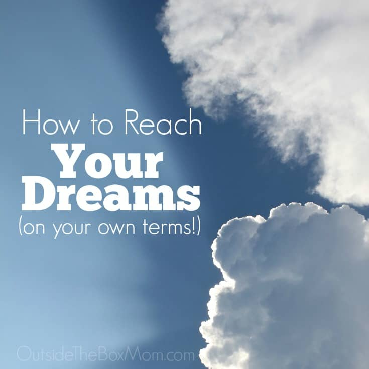 I get so frustrated when I want to do something but obstacle after obstacle keeps getting in the way. These suggestions to finally reach my dreams on my terms!