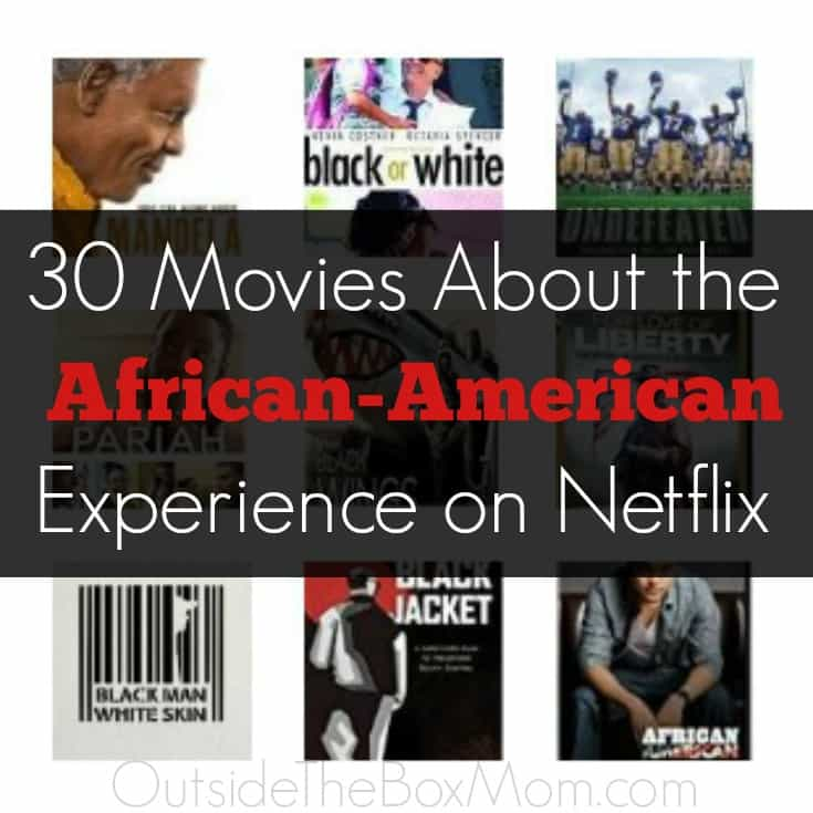 I am so glad I found these movies about the African-American experience to watch during Black History Month. These Netflix titles cover slavery, black power, racism, segregation, documentaries, and civil rights. There's so much to learn.