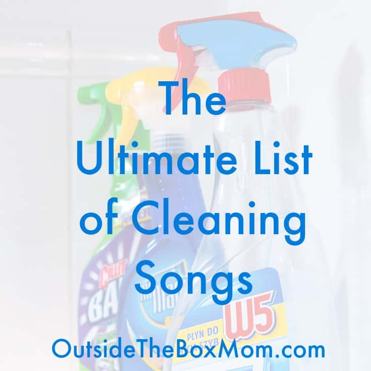 Do you dread cleaning? Get this list of cleaning songs to make it faster and easier to get your home cleaned in no time!