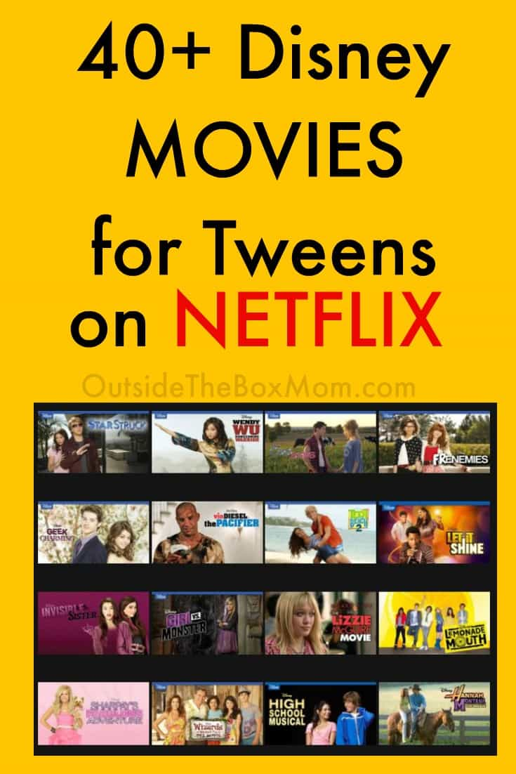 These Disney movies on Netflix for tweens are great to watch during Spring Break, Summer, or any time of year. These Netflix titles feature comedies, musicals, summer camps, farms, and romance.