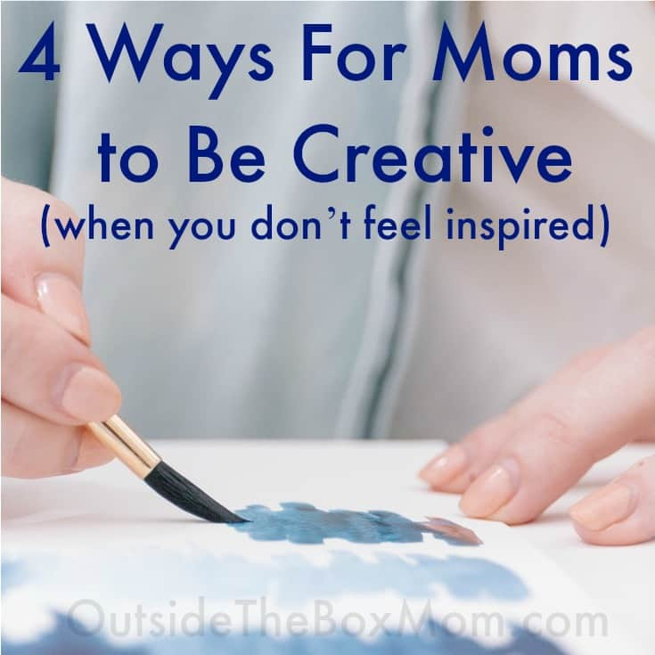 Sometimes my life is so tiring, boring, and mundane. With these four easy ideas, I can take back my life and be a creative mom again, today!
