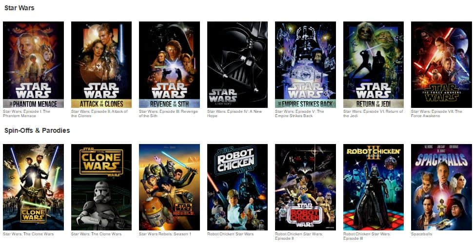 These Star Wars movies on Netflix are great to watch during Star Wars Day on May 4 (aka May the 4th Be With You), school breaks, Summer, or any time of year.