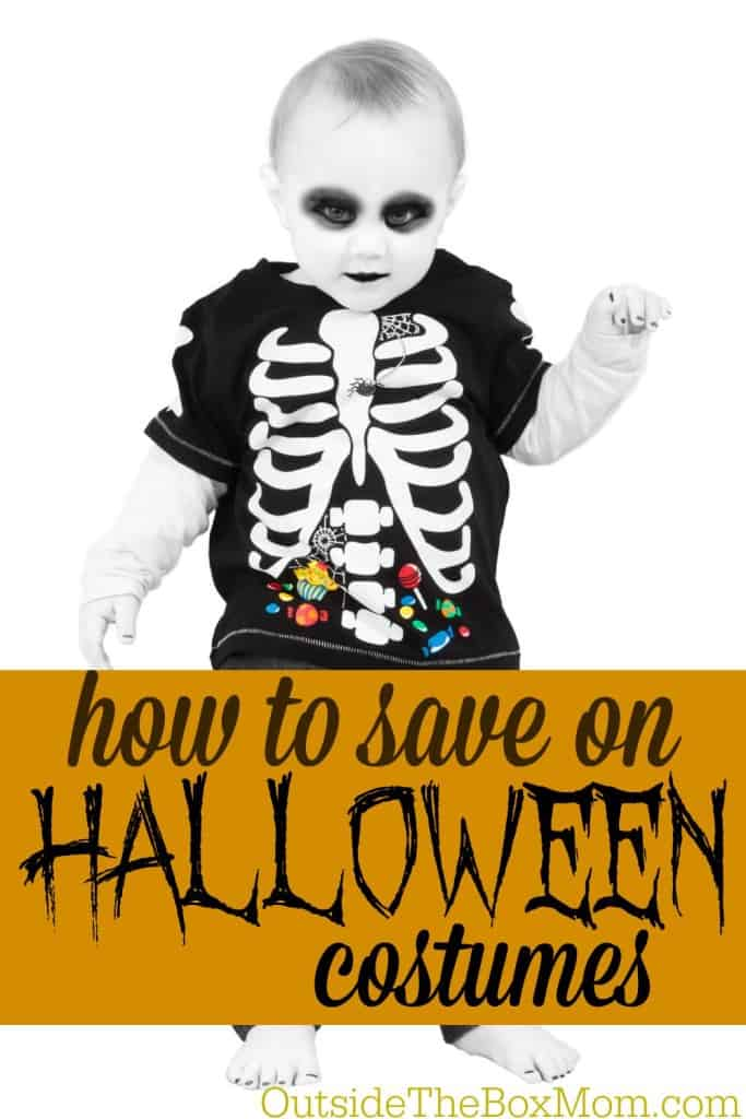 I hate the idea of spending $10-$30 on an outfit my child will wear for 1-2 hours (and won't be able to fit again next year). Here are some ways you can save money on Halloween costumes: