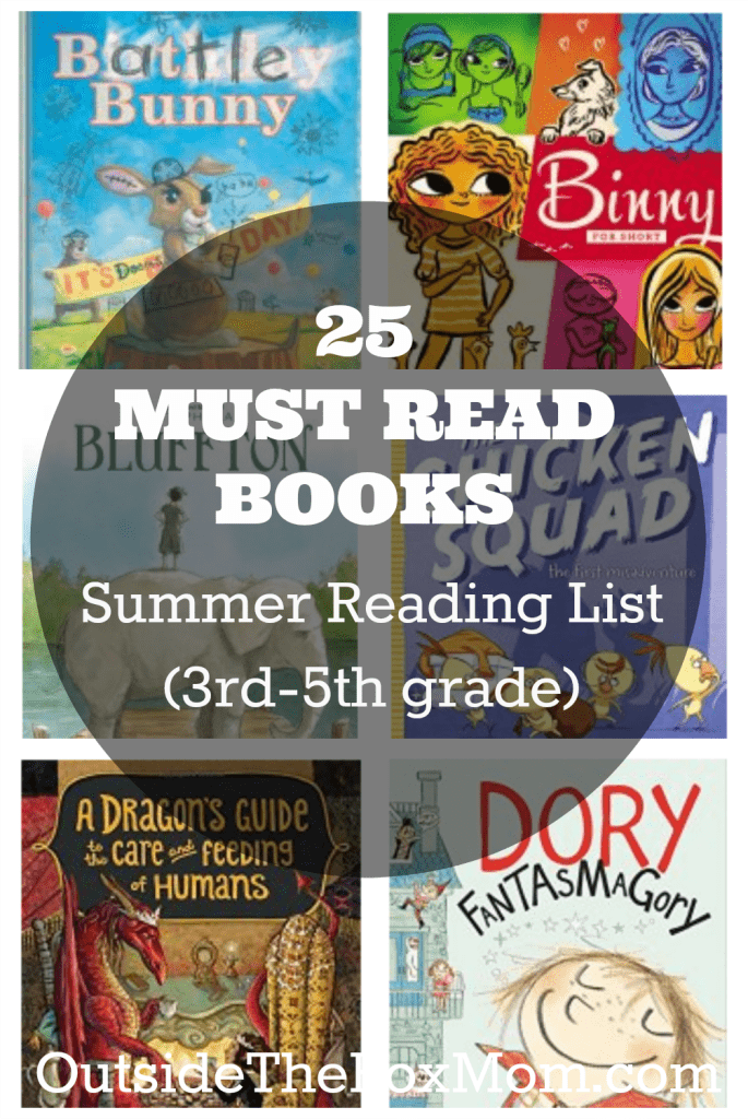 Are you looking for a list of books for your 3rd, 4th, or 5th grader to read this summer? I've compiled a list of must read books that your child is sure to enjoy!